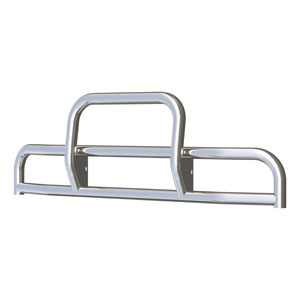 Image for Tuff Guard II Polished Stainless Grille Guard (15-Degree Bend)