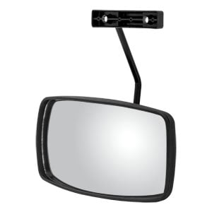 "Image for 10"" x 6"" Black Plastic Convex Look-Down Mirror Assembly"