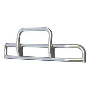 Image for Tuff Guard II Polished Stainless Grille Guard (38-Degree Bend)