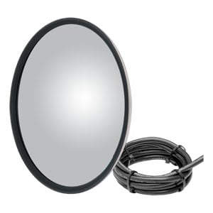 "Image for 8-1/2"" Stainless Offset-Mount Heated Convex Mirror Head with Plastic Ball Stud"