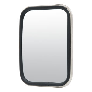 "Image for 5-1/2"" x 7-1/2"" Stainless Rectangular Center-Mount Flat-Glass Mirror Head"