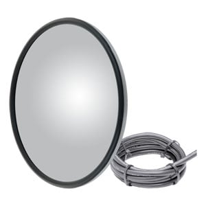 "Image for 8"" Stainless Offset-Mount Heated Convex Mirror Head"