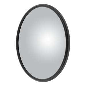 "Image for 8"" Black Steel Center-Mount Convex Mirror Head with J-Bracket"