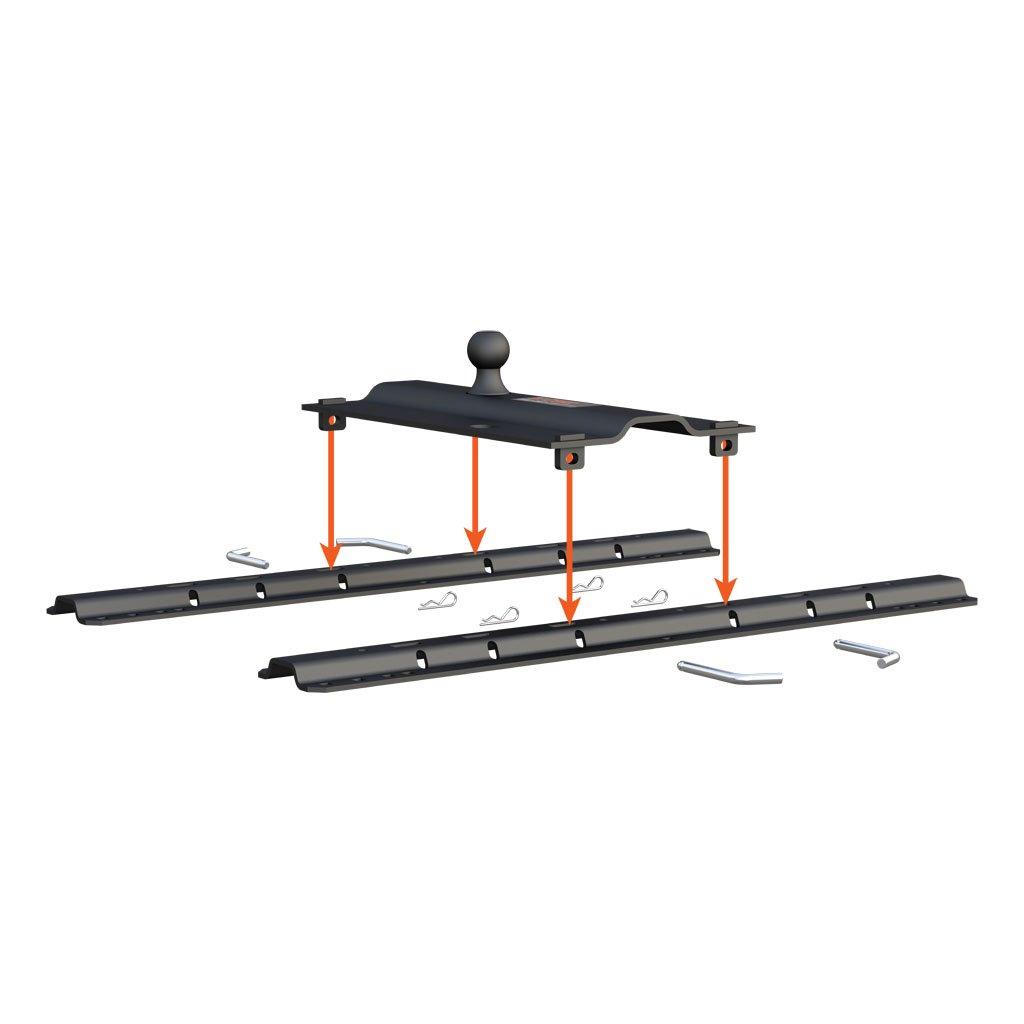 curt manufacturing   curt bent plate 5th wheel rail