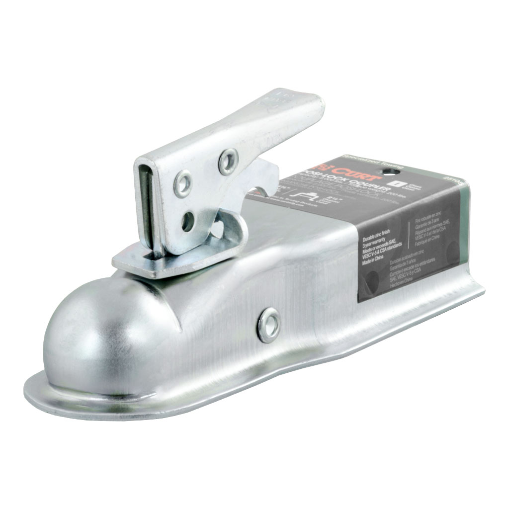 Trailer Hitch Coupler Types : Curt manufacturing straight tongue coupler