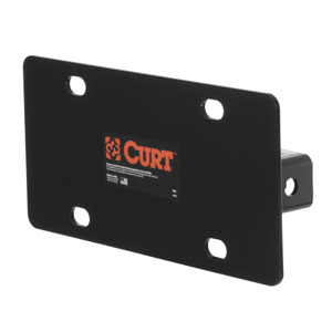 CURT Hitch-Mounted License Plate Holder #31002
