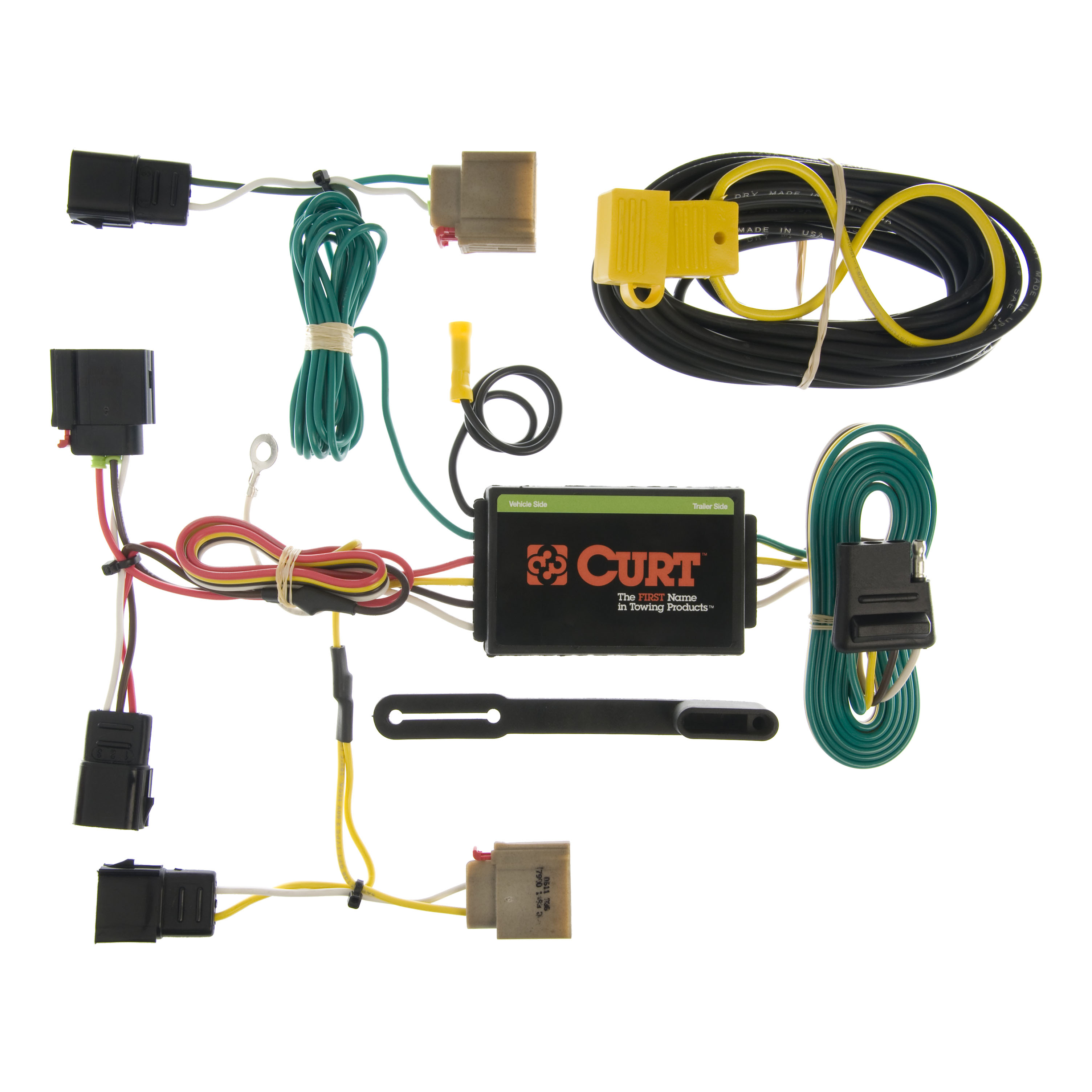 Curt Custom Vehicle To Trailer Wiring Harness 55050 For 2007 Dodge Caliber