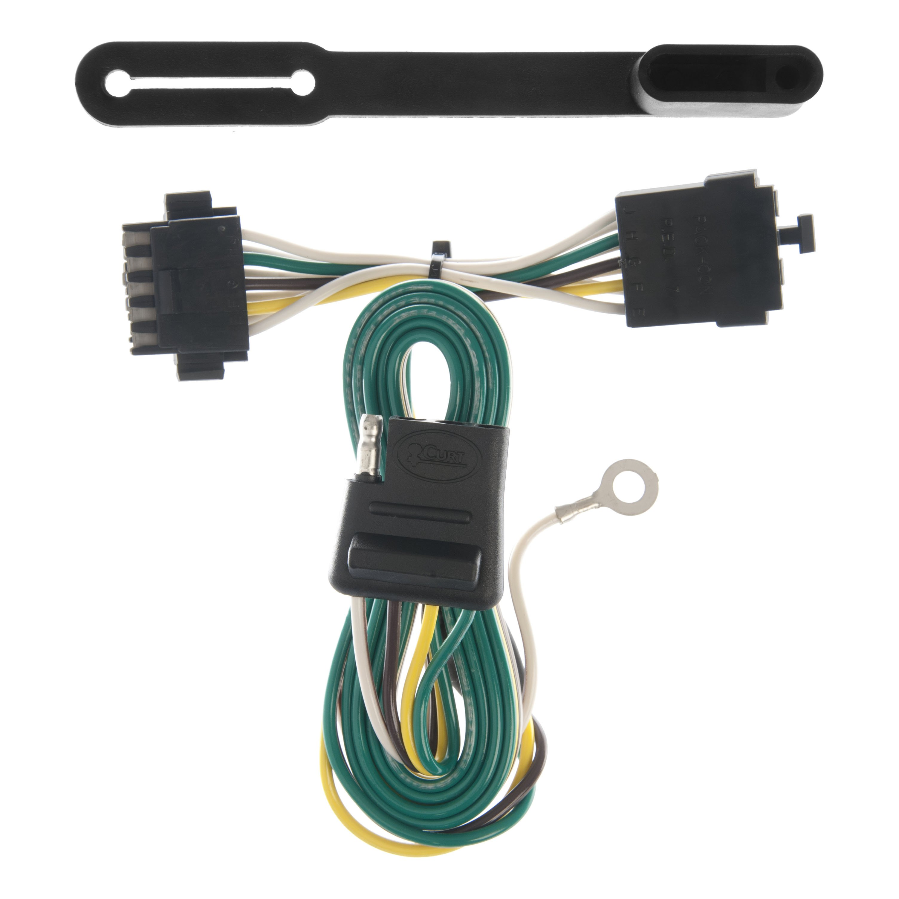 curt vehicle to trailer wiring harness 55318 for 84 91. Black Bedroom Furniture Sets. Home Design Ideas