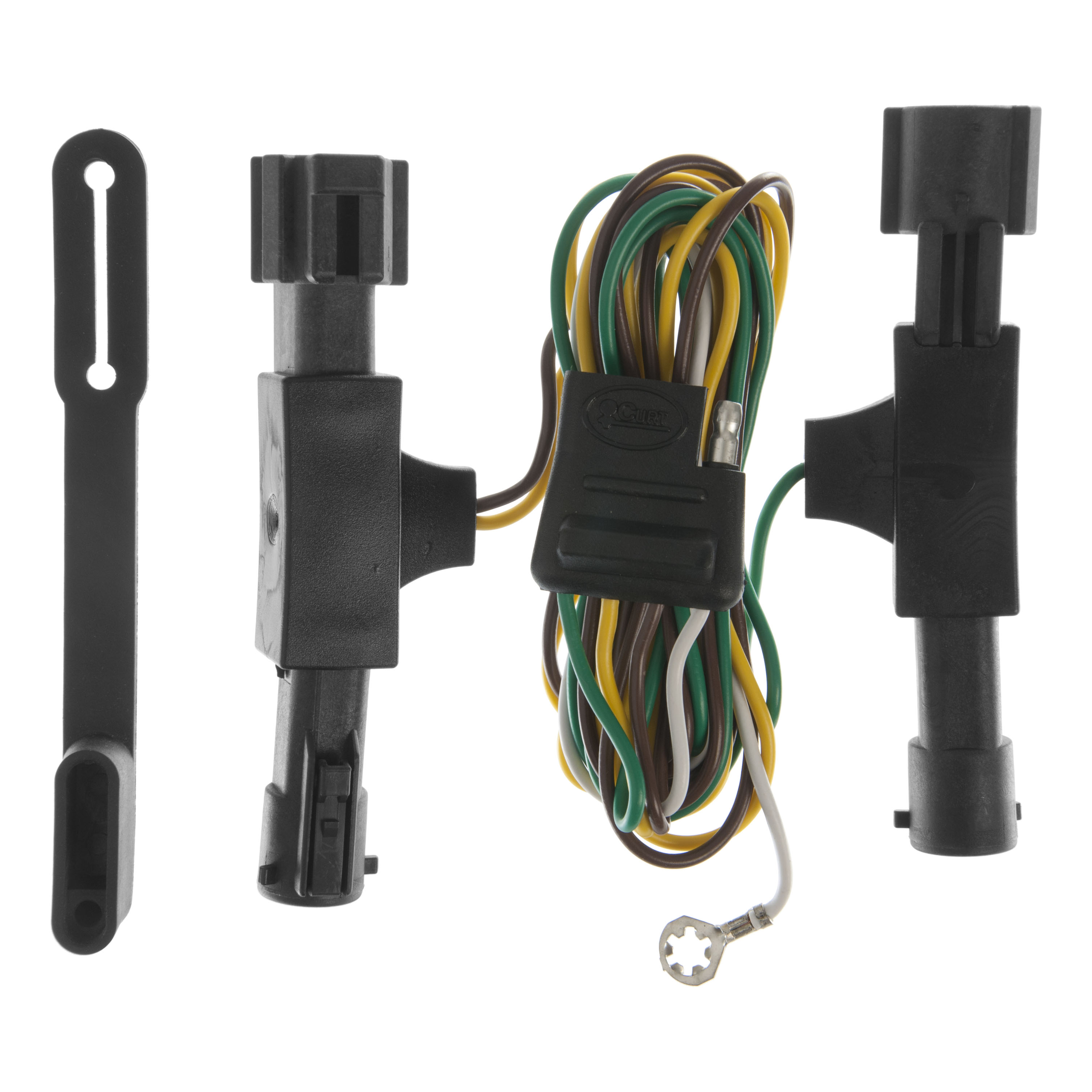 curt custom vehicle to trailer wiring harness 55350 for 1992 1996 ford bronco