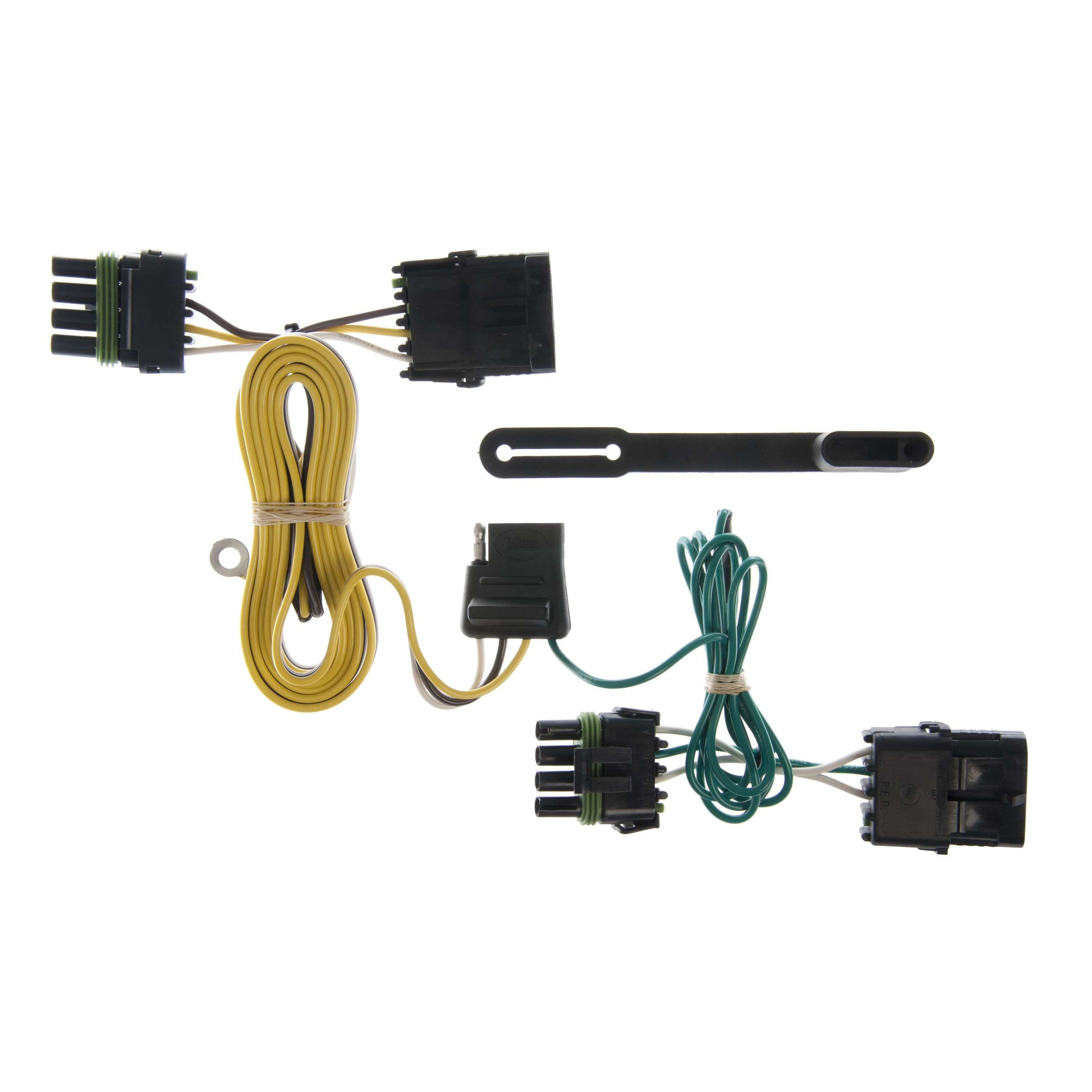 curt custom vehicle-to-trailer wiring harness 55356 for 1991-1997 jeep  wrangler