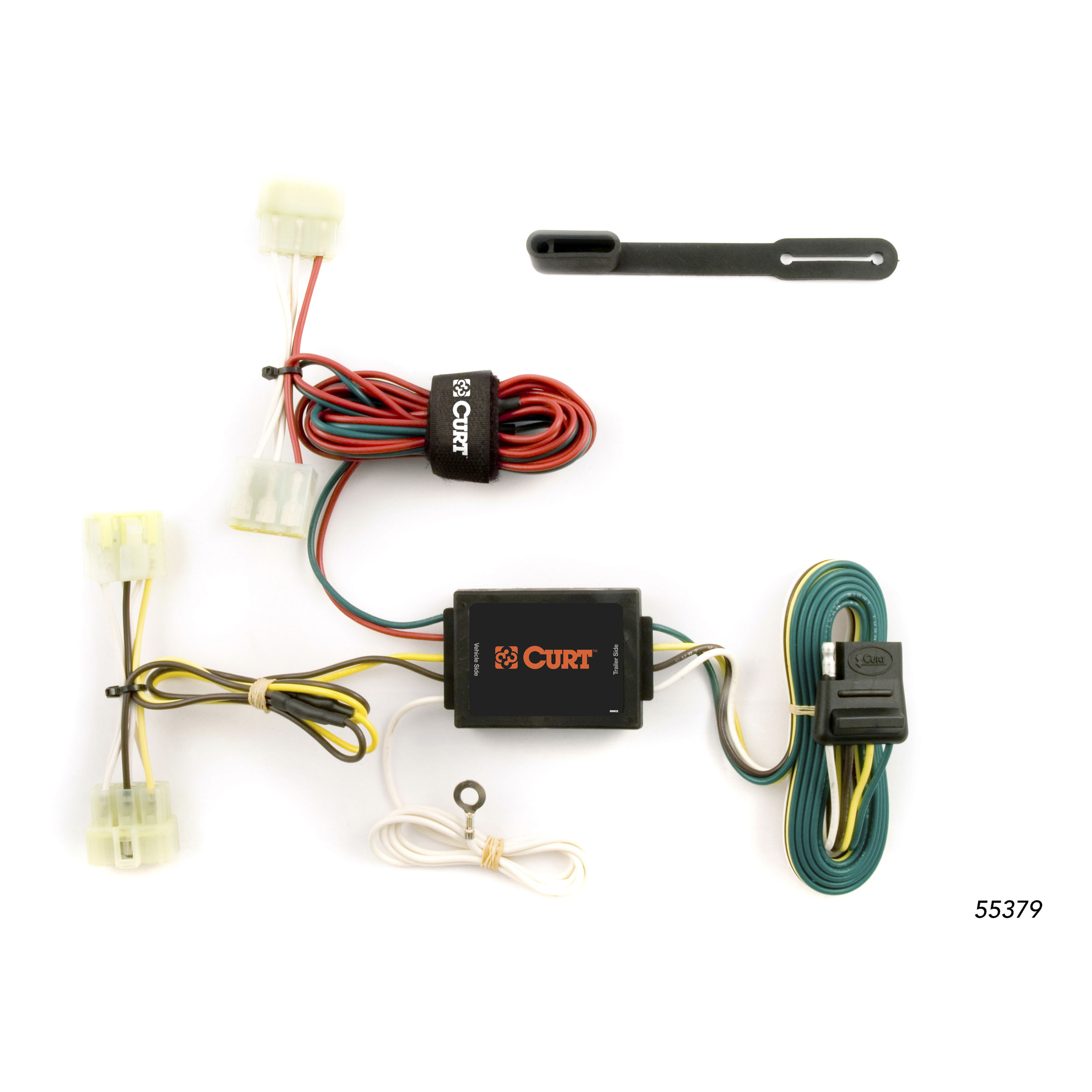 CURT Custom Vehicle-to-Trailer Wiring Harness 55379 for 1995-2004 Toyota  Tacoma