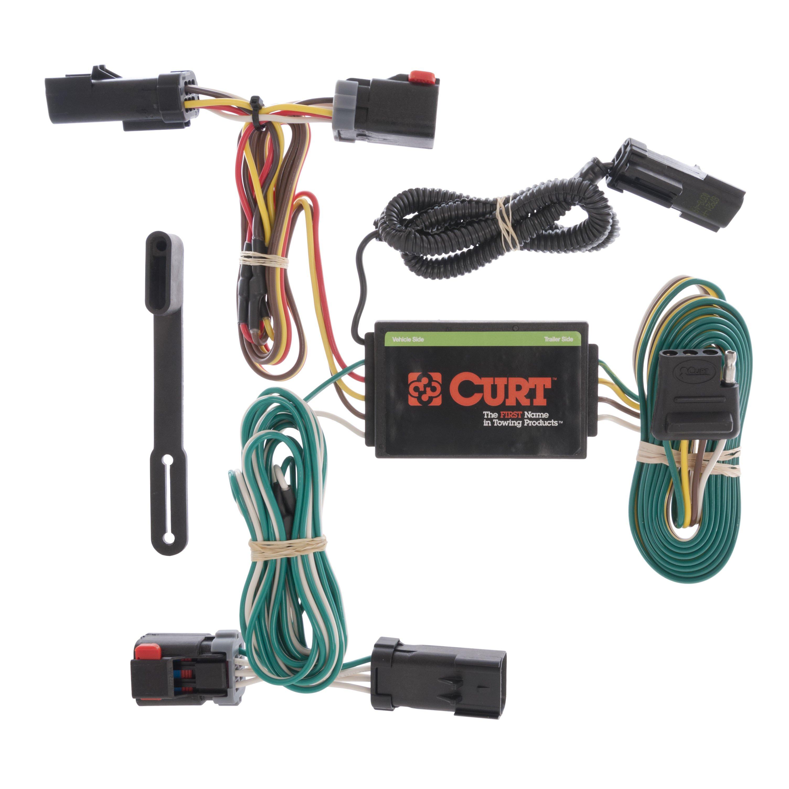 CURT Custom VehicletoTrailer Wiring Harness 55530 for 0408