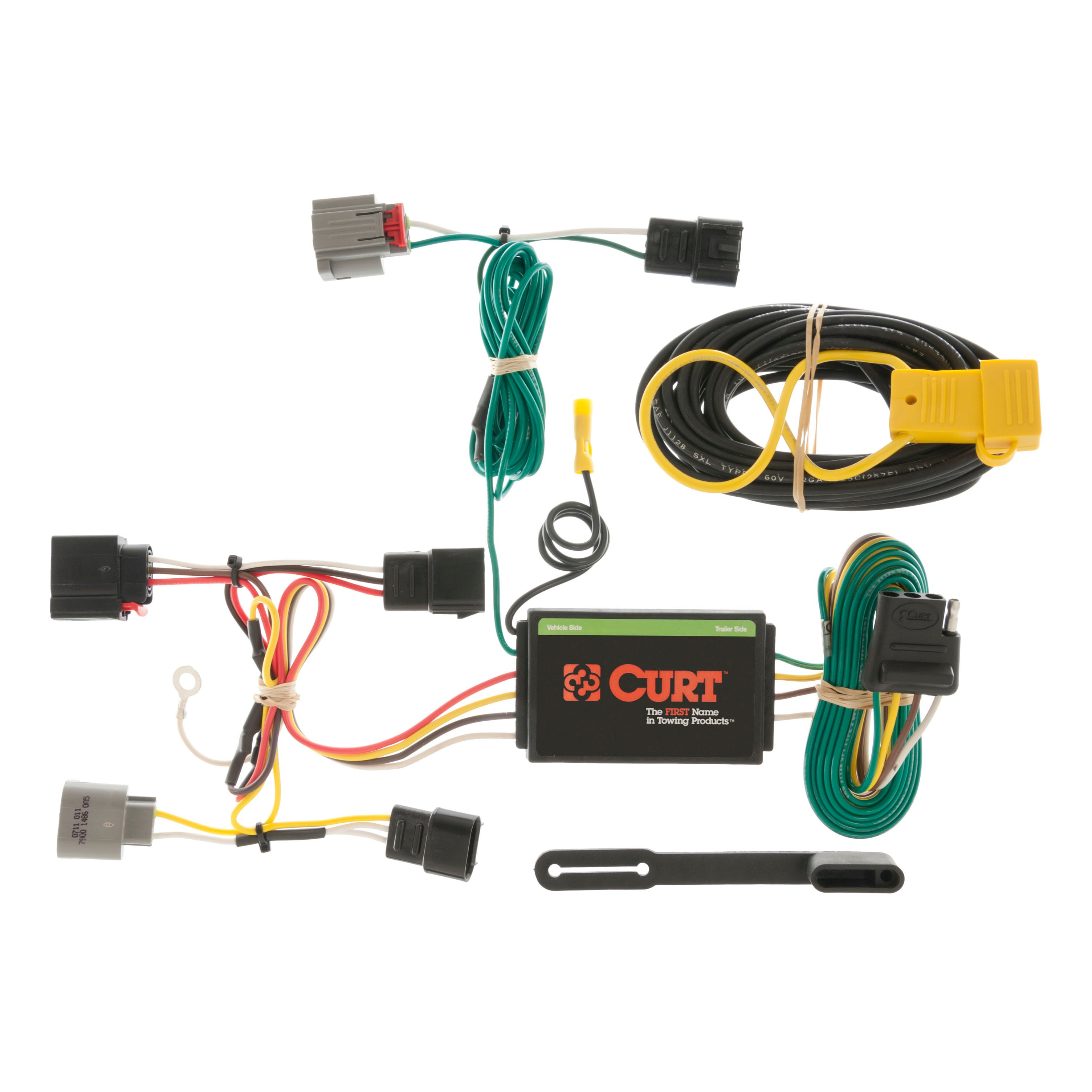 curt custom vehicle to trailer wiring harness 56054 for 07. Black Bedroom Furniture Sets. Home Design Ideas