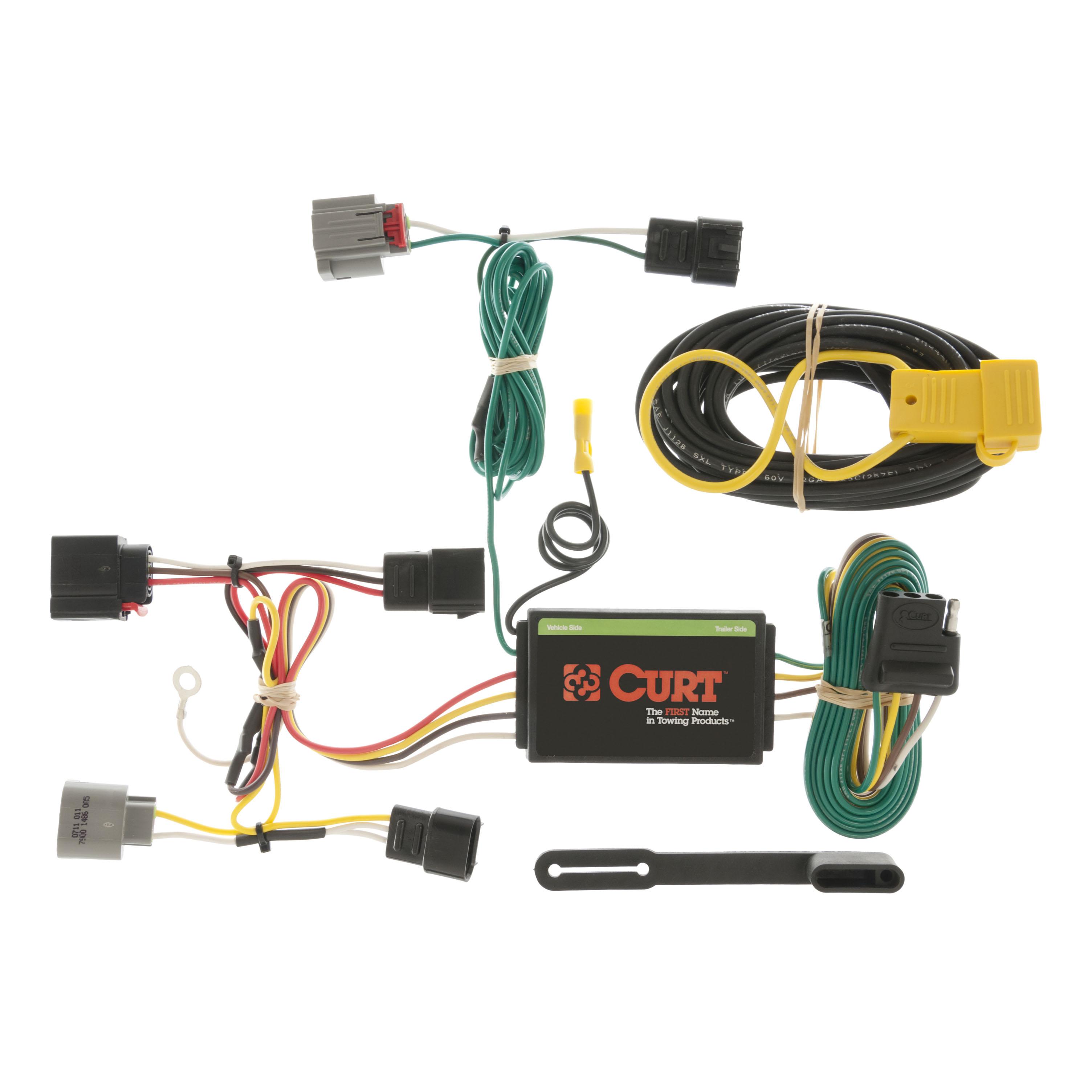 curt custom vehicle to trailer wiring harness 56054 for 07 10 rh ebay com Chrysler Engine Wiring Harness 2007 chrysler pacifica trailer wiring harness
