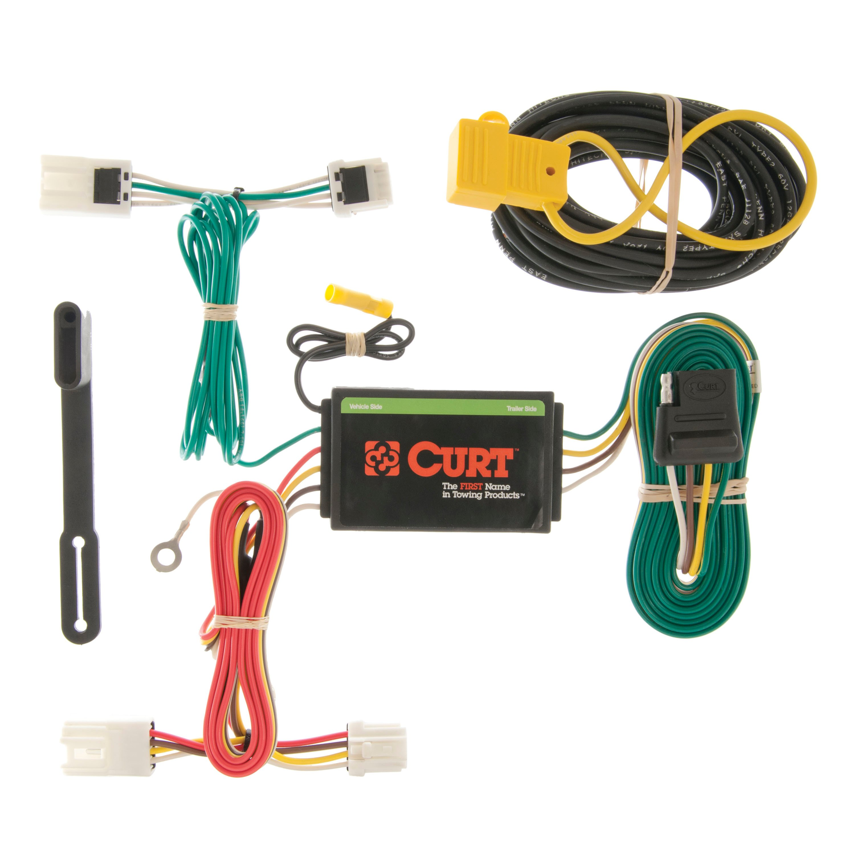 curt custom vehicle to trailer wiring harness 56127 for 10. Black Bedroom Furniture Sets. Home Design Ideas