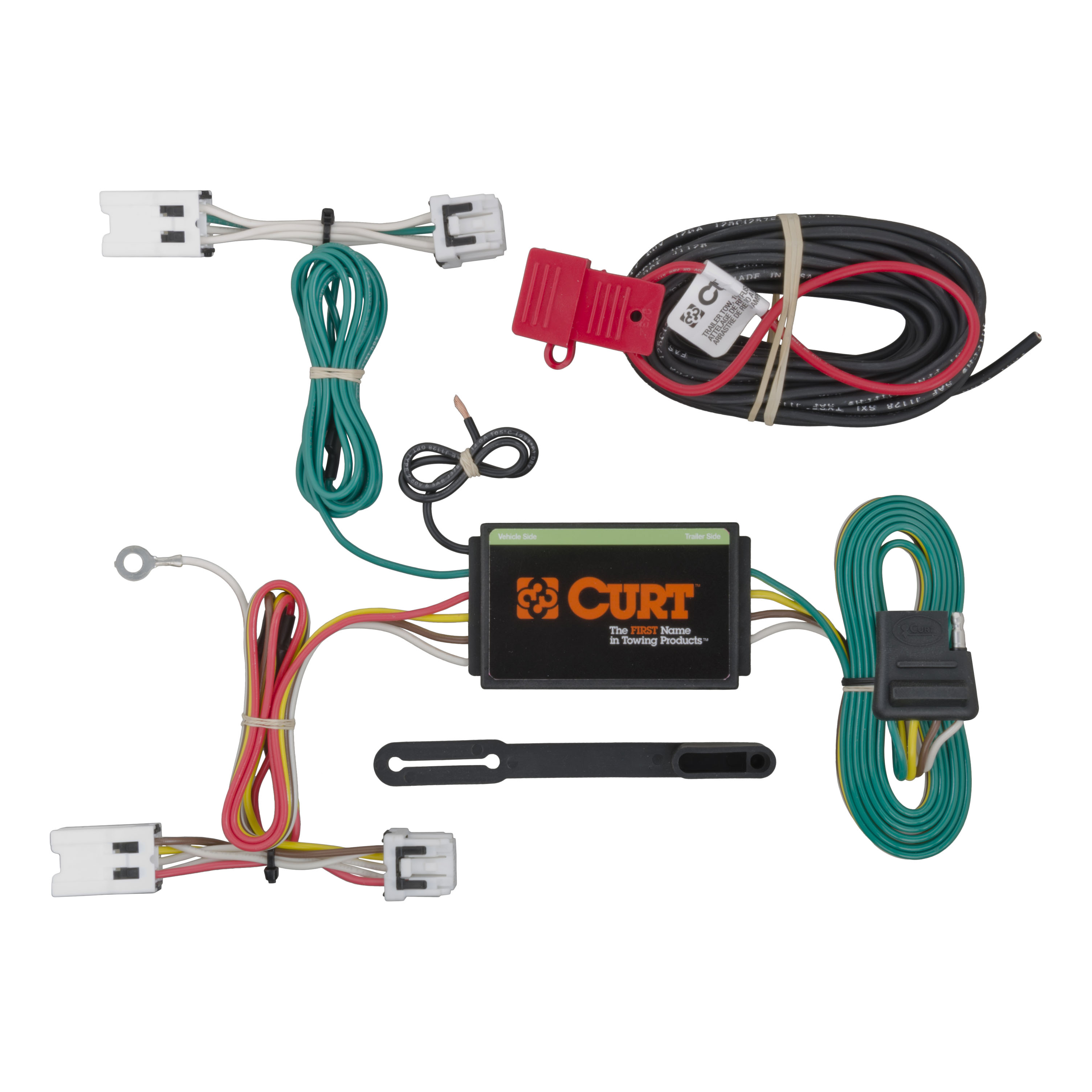 curt custom vehicle to trailer wiring harness 56205 for 2013 2016 1997 nissan radio wiring harness image is loading curt custom vehicle to trailer wiring harness 56205