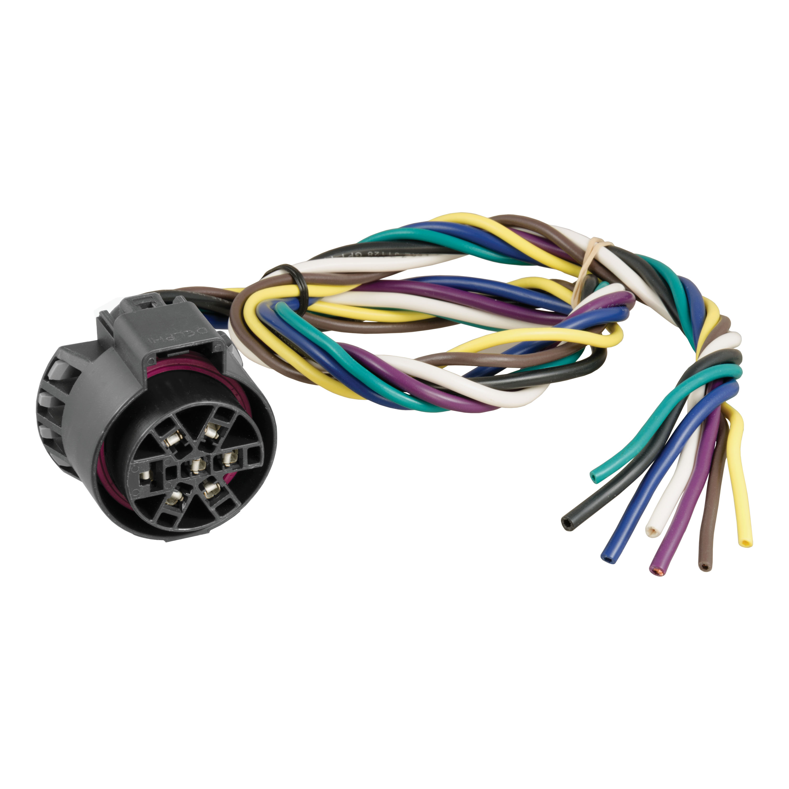curt wiring 56229 replacement uscar 7-way plug with 24 ... 7 way plug wiring diagram trailer curt 7 way plug wiring diagram